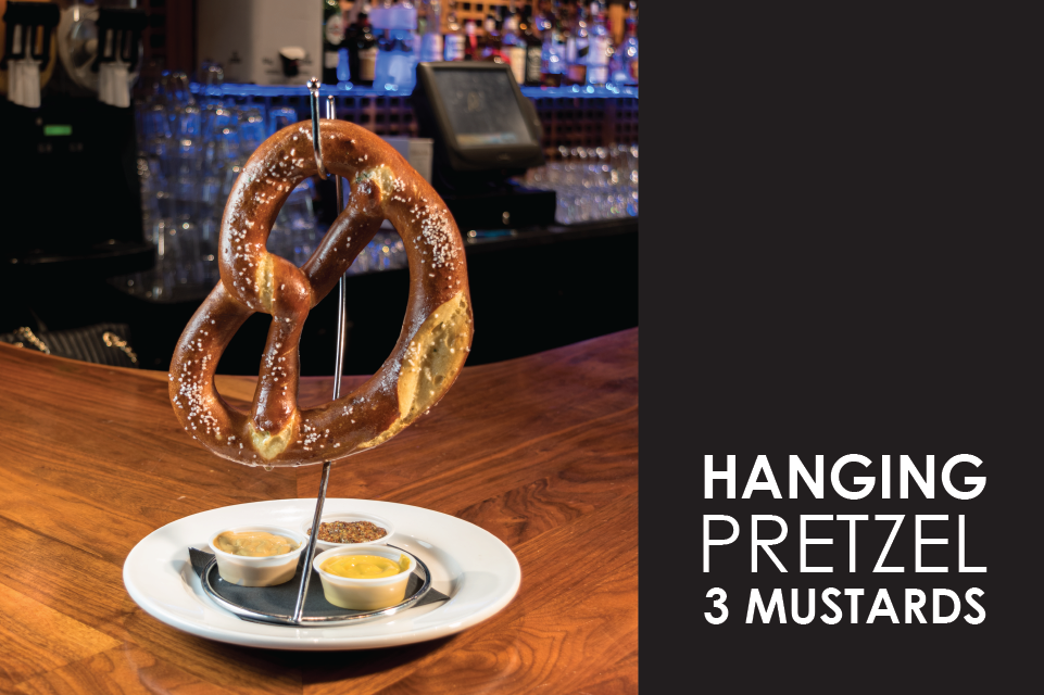 hanging pretzels 3 mustards