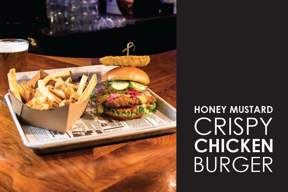 honey mustard crispy chicken burger